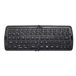 Wholesale-UN2F Wireless Foldable Bluetooth Keyboard For Laptop Tablet Smartphone Black