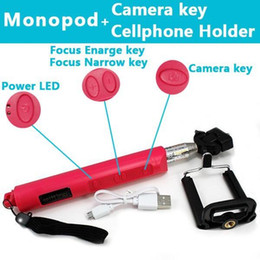 Wholesale The new universal wireless Bluetooth remote control handset Self pole double pole Self ios automatic focusing system for Apple