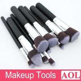 Wholesale Professional Cosmetic Facial Make up Brush Tools Wool Makeup Brushes Set Kit Beautiful Black White Pink with Silver Gold