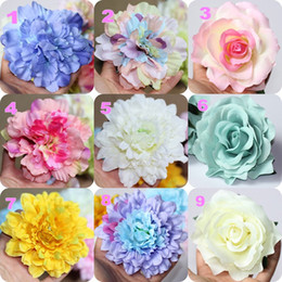 Cheap 10 cm Artificial Flowers Wedding Supplies Decorations Hand Made Single Flower Colorful Petals Free Shipping