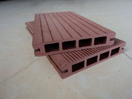 Wholesale The wood plastic material Hollow decking step pedal plank flooring