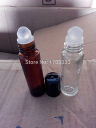 Wholesale 300pcs Refillable bottle ml oz MINI ROLL ON fragrance PERFUME GLASS BOTTLES ESSENTIAL OIL Roller ball