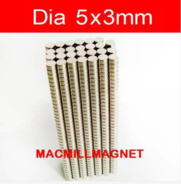 2016 Brand New Bulk super strong round magnets Neodymium 100pcs pack, Dia5x3mm, Mini Craft magnets, Free Shipping