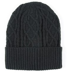 Wholesale-Autumn and winter with velvet thick warm woolen hat men and women knitted hat
