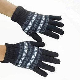 Wholesale-Hot marking 2015 Elegant Women and Men Fashion Warm Winter Gloves Mittens O4