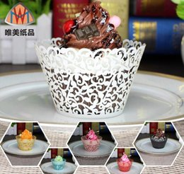 200pcs Laser Cut Hollow Lace Flower Cupcake Cake Cup Decoration Supplies Wrappers Liner For Wedding Party Birhtday