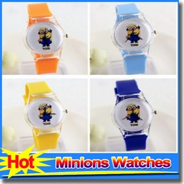 Wholesale Best selling Plastic Transparent PVC Mens Watch New Fresh Cartoon Minions Watches Fashion Mr Minions Children Wristwatch Women Watches