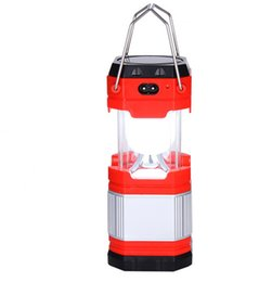 Solar LED Camping Light Rechargeable with USB foldable camping light UltraBright LED Portable Lantern Lamp in Outdoor Lighting