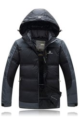 Wholesale New solomon Autumn amp Winter men outdoor high tech heat energy lining down jacket warm waterproof windproof outerwear