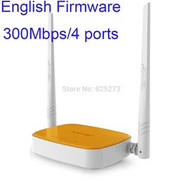Wholesale Wireless N router WIFI repeater home networking broadband Access Point Mbps Ports RJ45 g b n Tenda N304 free shiping