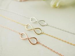 10PCS- B018 Gold Silver Unique Simple Infinity Bracelets Men Cute One Direction Infinite Bracelet Number Figure 8 Eight Bracelet
