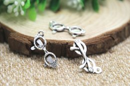 Wholesale 40pcs Eyeglasses Charms Charms Antique Silver Tone Spectacles Charms pendants x20mm