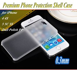Wholesale For iPhone S C S Back Cover Case Dull Polish Plastic PP Ultra Thin mm Phone Cases Protective Shell Case
