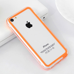 Wholesale-For iphone5C Brand Soft Frame Bumper Case TPU Material Soft Mobile Phone Silicone Frame For Apple iphone 5C Cell Phone Cases