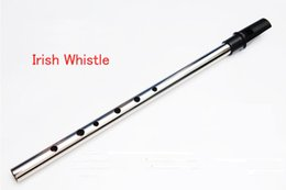 Wholesale Clovers Nickel plating Irish Whistle High D Tune Tone Sweet Irish Flute Penny Whistle