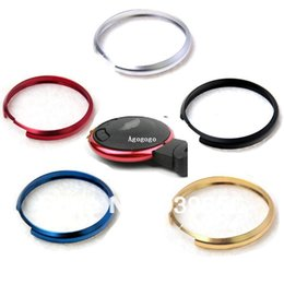 Wholesale Anodizing Keyring Decor Key Fob Replacement Trim Ring For Mini Cooper Chrome Key Ring DECO Key Ring For color optional