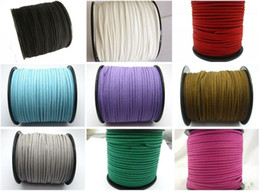Hot ! 100 Yards Faux Suede Flat Leather Cord Necklace cord 2mm Spool Pick Your Color DIY jewelry