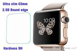 Promotion lcd iwatch Verre trempé pour Apple Watch iwatch Ultra mince 9H Dureté Verre trempé Premium avec 38mm 42mm Protecteur d'écran Film LCD Guard