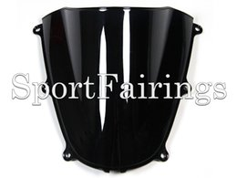 Wholesale ABS Double Bubble Tinted Black Windshield Windscreen For Honda CBR600 F5 Motorcycles New