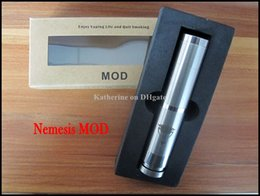 E Cig Mod Nemesis Mechanical Mod Big Vapor Stainless Steel Mod Battery Body Mod for 18650mah Battery Electronic Cigarette King MOD Instock