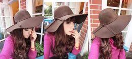 Wholesale 30pcs new spring and winter women s elegant hat British retro ladies casual imitation woolen hat Dayan Mao hat beach hat