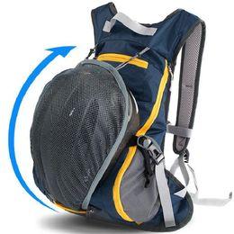 Cycling backpack Plum blue black navy orange day pack Skiing rucksack Helmet pocket bag Skating daypack
