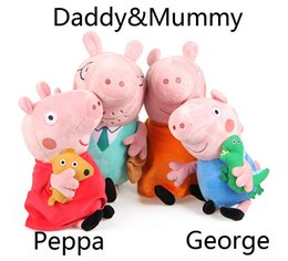 Wholesale SET High Quality Pink Pig Plush Toys Family Set CM Daddy Mummy CM Son Daughter Brinquedos For Years Baby
