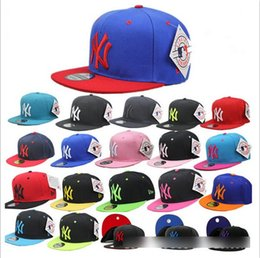 Wholesale Base Ball Caps NY Letter Printing Solid Colors Fashion Hip Hot Stree Dance Hats Sporting Ball Cap Outwear Hat D5626