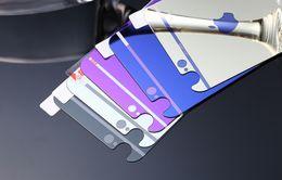 Plaque d'écran en Ligne-2015 Pour iPhone 6 Film de verre 6s Miroir de couleur placage verre trempé Protecteur d'écran pour iPhone 6 6plus 4.7 5,5 pouces avant et arrière
