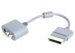 Consola gris en Línea-Conexión mayor-el envío libre mundial Cable de audio para Xbox 360 consola de juegos (Gray)