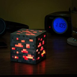 Wholesale Minecraft Light Up Redstone Ore Square Minecraft Night light LED Minecraft Light Up Diamond Ore Kid children GREAT GIFT XMAS