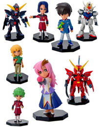 Wholesale 8pcs set Japan Cartoon Anime MOBILE SUIT GUNDAM PVC Action Figure Collection Model Toys dolls children Christmas gift HX