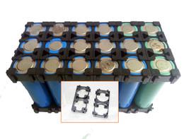Wholesale 100PCS E bike battery assemble battery holder bracket battery case li ion cell holder P ABS material anti