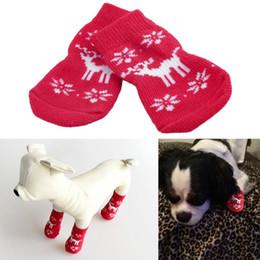 Cool Cute Red Deer Pattern Puppy Pet Dog Christmas Cotton Socks Warm Winter Brand New