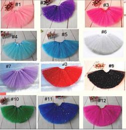 Wholesale girls glitter ballet tutu skirt for babys fluffy tutu skirt pettiskirt for girls Ballet tutu skirt