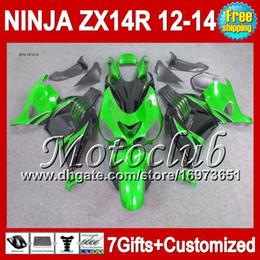 7gifts Green black For KAWASAKI 12 13 12 13 ZX14 R ZX-14R 25C142 Green black ZX 14R 2012 2013 2012 2013 ZX 14 R NINJA ZX14R 12-13 Fairing