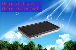 Wholesale High safty mAh Solar Power Bank Charger Battery Backup Portable Mobile for Galaxy for Iphone for PAD Tablet MP4 Laptop Dual USB