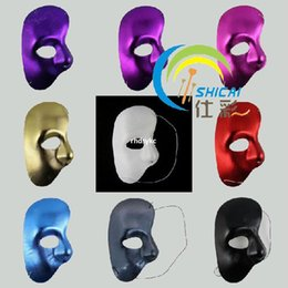 Wholesale 10pcs feather masquerade masks Venetian Shi cloth color theme Phantom of the Opera mask side half face mask dance mask mask whol