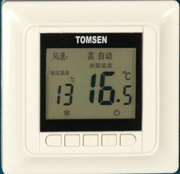 Wholesale Tm603 lcd central air conditioner thermostat temperature controller three speed switch ventilation fan coil