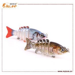 Wholesale ILure six section hard lure g cm two colors for choice artificial bait plastic fish hot sales