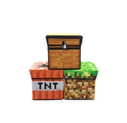 Wholesale 30 cm Minecraft box Multifunction Storage bag Foldable Storage Stool minecraft tnt in stock