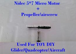 Nuevos propulsores de alta velocidad magnéticos fuertes fuertes magníficos del motor + 46MM de Japón Nidec 5 * 7m m de la llegada 10PCS usados para el planeador Quadcopter del JUGUETE DIY desde planeadores de bricolaje proveedores