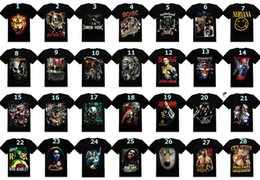 Wholesale 3D Shirts Men s Clothing Creative Bone Skull Printed Indian Wolf T Shirts Bob Band Fashion Novelty Shirt Short Sleeves Black Summer DHL