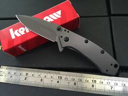 Kershaw Cryo II Folding blade Knife 1556TI 8Cr13Mov steel plain Flipper Tactical knife knives new in original box Gray KS001J