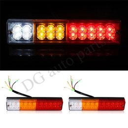 Wholesale One Pair LED ATV Trailer Truck LED Tail Light Lamps Car Rear Lights Taillight Reversing Running Brake Turn Lights