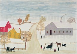Wholesale paintings by Henri Rousseau Amish Village Home Decor Hand painted High quality
