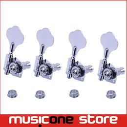 A set 4R Chrome Opened Electric Bass Guitar Tuning Pegs Machine Heads Tuners For Bass Free shipping MU0212