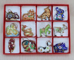 Wholesale Cheap Collectibles Chinese Style Handmade Cloisonne Zodiac Animals Ornaments