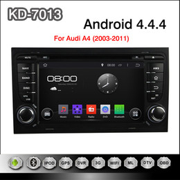 Wholesale Pure Android Dual Din inch Car DVD Player for Audi A4 GPS Navigation Radio TV BT USB AUX G WIFI DVR Audio Stereo with Canbus