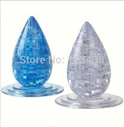Wholesale-3D Crystal water Drop Jigsaw Puzzle Educational Toys, with retail box